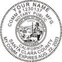 Notary Embossing Seal, California California Notary Public Seal Notary Public Seal California Notary Public Embosser