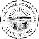 Ohio Notary Embosser Ohio State Notary Public Embossing Seal Ohio Notary Public Embossing Seal Ohio Notary Public Seal Notary Public Seal