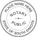 South Dakota Notary Embosser South Dakota Notary Public Embossing Seal South Dakota Notary Public Seal South Dakota Notary Seal