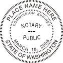 Washington Notary Embosser Washington State Notary Public Seal Washington Notary Public Seal Notary Public Seal