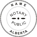 Alberta Canada Notary Embossing Seal