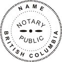 British Columbia Notary Embosser