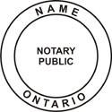 Ontario, Canada Notary Embosser Ontario, Canada Notary Embossing Seal Ontario, Canada Notary Public Seal Notary Public Seal Notary Seal