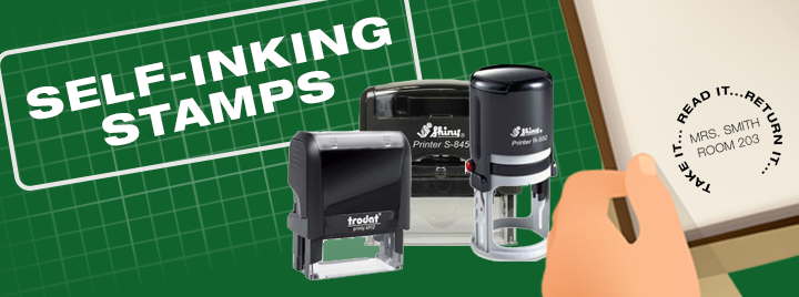 Self-Inking Stamps on all major brands
