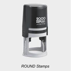 2000 Plus Round Stamps