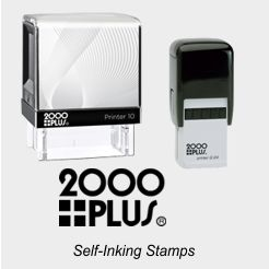 2000 Plus Self-Inking Rubber Stamps