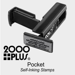 2000 Plus Self-Inking Pocket Stamps