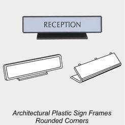 Plastic Sign Frames, Rounded Corner