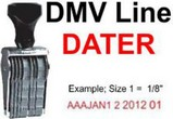 DMV and CoDater Line Dater Stamps