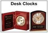 Personal Engraved Desk Clocks