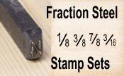 Fraction Steel Stamps