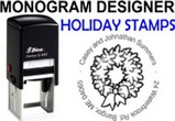 Christmas and Holiday Monogram Stamps