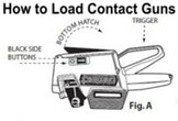 How to Load Contact Label Gun