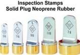 Neoprene Inspection Stamps