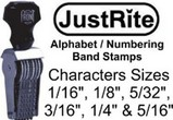Justrite Alphabet and Numbering Stamps