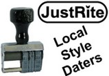 JustRite Local Style Dater Stamps
