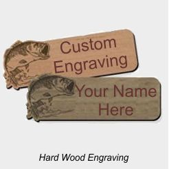 Laser Engraved Hardwood Badges