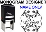 Name Monogram Stamps