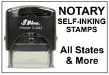 Self-Inking Notary Stamps, for each State