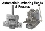 Numbering Heads, Wheels and Presses