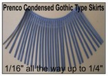 Prenco Condensed Gothic Line Skirt Sets