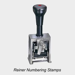 Reiner Numbering Machines