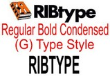RIBtype BOLD CONDENSED (G) RIBtype