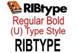 RIBtype REGULAR BOLD (U) RIBtype