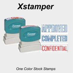 Xstamper Stock Stamps - One Color