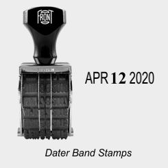 Dater Rubber Band Stamps