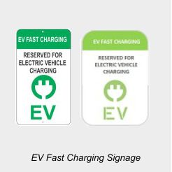 EV Charging Station Signage
