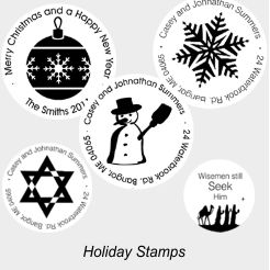 Christmas and Holiday Designer Stamps