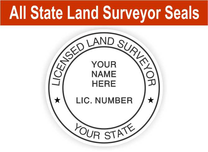 Land Surveyor State Seals