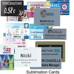 Sublimation Printed Cards