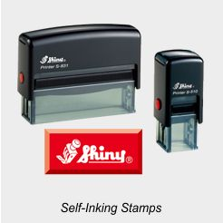 Shiny Self-Inking Rubber Stamps