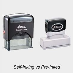 What's the Difference Between Self-Inking and Pre-Inked Stamps