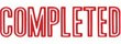 "Xstamper Pre-Inked Stock Stamp ""COMPLETED"" Xstamper Stock Stamp"