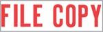"""Xstamper Pre-Inked Stock Stamp """"FILE COPY"""" Xstamper Stock Stamp"""