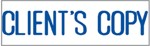 "Xstamper Pre-Inked Stock Stamp ""CLIENT'S COPY"" Xstamper Stock Stamp"