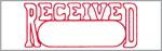 "Xstamper Pre-Inked Stock Stamp ""RECEIVED"" Xstamper Stock Stamp"