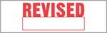 """Xstamper Pre-Inked Stock Stamp """"REVISED"""" Xstamper Stock Stamp"""
