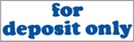 "Xstamper Pre-Inked Stock Stamp ""for deposit only"" Xstamper Stock Stamp"