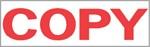 """Xstamper Pre-Inked Stock Stamp """"COPY"""" Xstamper Stock Stamp"""