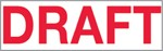 """Xstamper Pre-Inked Stock Stamp """"DRAFT"""" Xstamper Stock Stamp"""