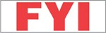 "Xstamper Pre-Inked Stock Stamp ""FYI"" Xstamper Stock Stamp"