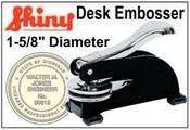 """Desk Embossing Seal 1-5/8"""" Dia."""