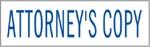 """Xstamper Pre-Inked Stock Stamp """"ATTORNEY'S COPY"""" Xstamper Stock Stamp"""