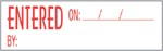 "Xstamper Pre-Inked Stock Stamp ""ENTERED"" Xstamper Stock Stamp"