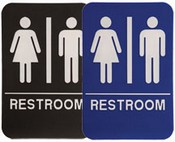 "RESTROOM Stock ADA Sign, 6""x9"" Stock ADA Sign, 6""x6 ADA Stock Signs ada sign requirements ada compliant signs custom ada signs ada guidelines signs ada signs wholesale ada bathroom signs ada signs online ADA Office Signs"