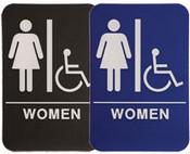"WOMEN Handicap Stock ADA Sign, 6""x9"" ADA Stock Signs ada sign requirements ada compliant signs custom ada signs ada guidelines signs ada signs wholesale ada bathroom signs ada signs online ADA Office Signs"